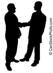 Silhouette Business - Silhouette over white with clipping ...