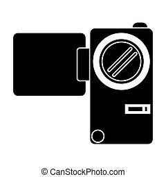 silhouette camcorder film video travel device