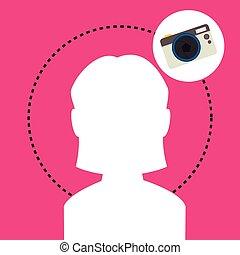 silhouette camera photo icon