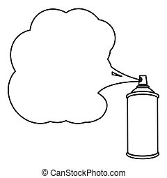 silhouette can of spray paint icon