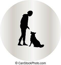 silhouette, cane