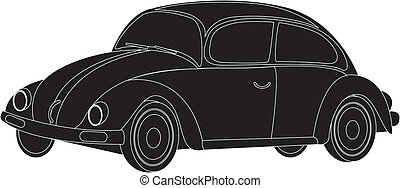 silhouette car isolated over white background. vector