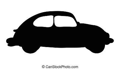 silhouette car vector symbol icon design.