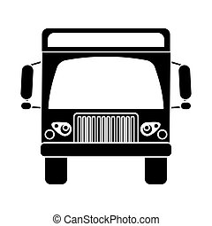 silhouette cargo truck commercial business