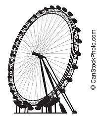 silhouette, carrousel