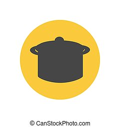 silhouette, casserole, illustration