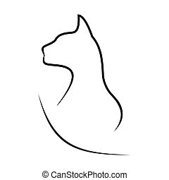 silhouette, cat.
