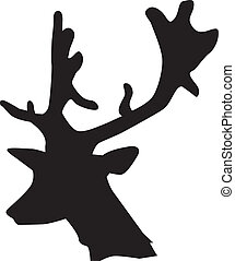 silhouette, cerf