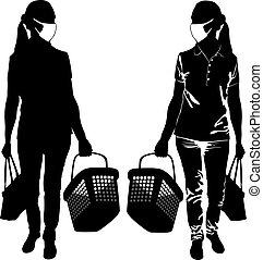 silhouette, cesti, acquisto donne