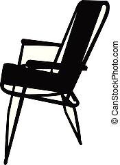silhouette, chaise, vecteur