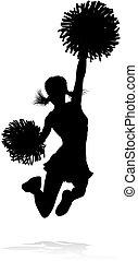 silhouette, cheerleader