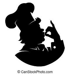 silhouette Chef - Illustration