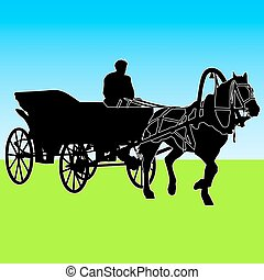 voiture silhouette cheval cheval vecteur silhouette voiture horse. Black Bedroom Furniture Sets. Home Design Ideas