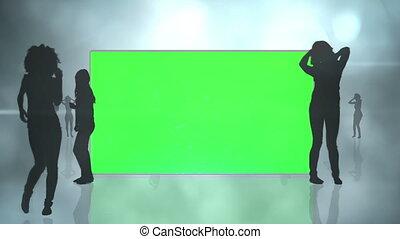 silhouette, chroma, écrans, clã©