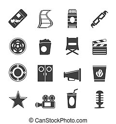 Silhouette Cinema and Movie Icons