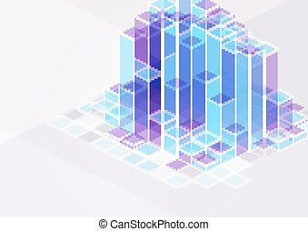 silhouette, città, costruzioni, colori, illustrazione