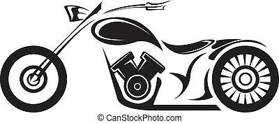 silhouette, classieke, moto, vector, motorcycle., pictogram