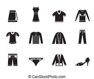 Silhouette Clothing Icons