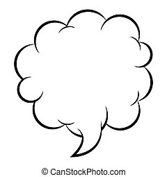 silhouette cloud callout with cumulus vector illustration