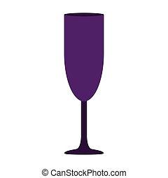 silhouette, cocktail, pourpre, boisson, verre, couleur