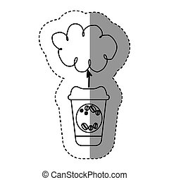silhouette coffee online clound icon