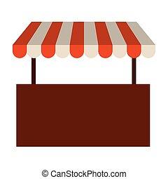 silhouette, coloré, image, marquise, rayé, magasin
