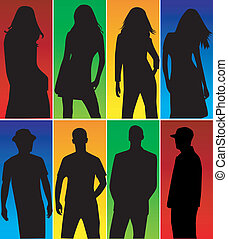 Silhouette - color background