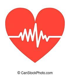 silhouette color heart beat pulse