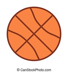 silhouette color with basketball ball