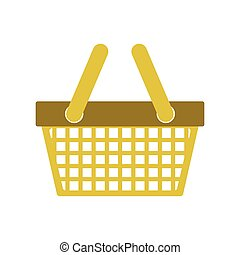 silhouette color with shopping basket