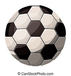 silhouette color with soccer ball with middle shadow vector...