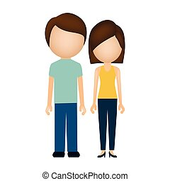 silhouette colorful of couple without face