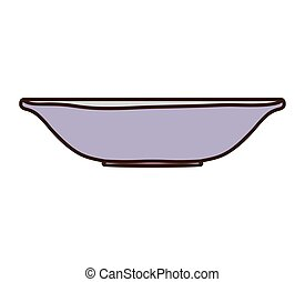 silhouette colorful with empty bowl