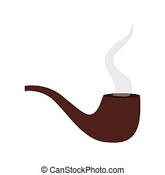 silhouette colorful with pipe smoking