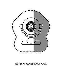 silhouette computer camera icon