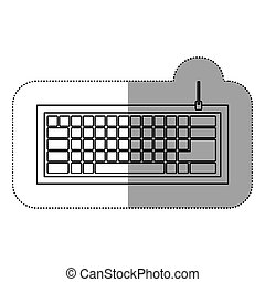 silhouette computer keyboard icon