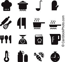 silhouette Cooking icons