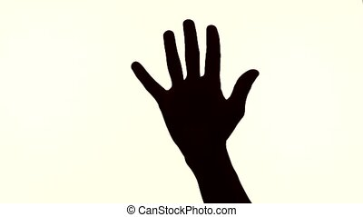 silhouette countdown fingers - silhouette of male hands...