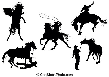silhouette, cowboy