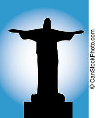 silhouette, cristo