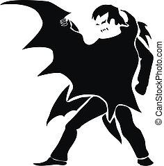 silhouette), (dark, 吸血鬼