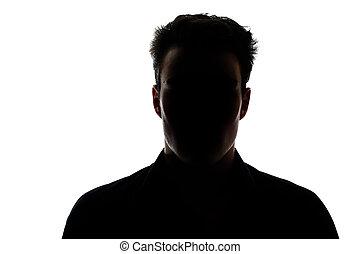 silhouette, de mens van het cijfer