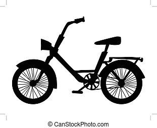silhouette, de, vélo