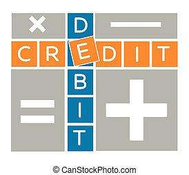silhouette debit and credit crossword