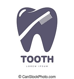 silhouette, dentale, dente, spazzolino, forma, sagoma, logotipo, sopra, cura