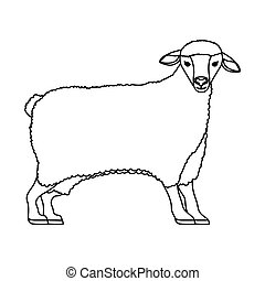 Mouton dessin anim contour vecteur search clip art - Mouton dessin anime ...