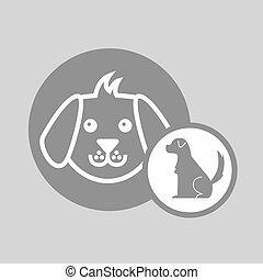 silhouette dog puppy icon