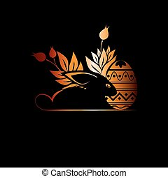 silhouette Easter Bunny