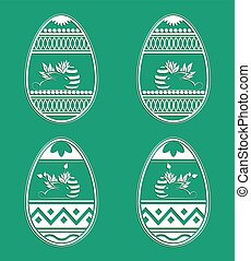 silhouette Easter eggs