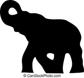 silhouette, elefante